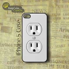 iPhone 5 Case, Electric Outlet iPhone Case Hard Fitted iPhone 5 Case, iPhone 5 Hard Case.