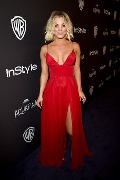ec2592de6ac Kaley Cuoco Instyle and Warner Bros. Golden Globe Awards Party January 10