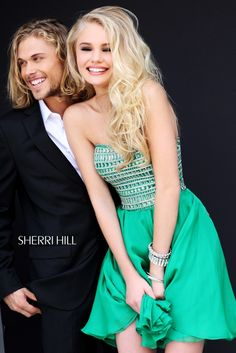 2013 Sherri Hill 11028 Emerald Homecoming Dresses