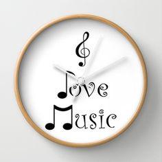 """I Love Music"" Wall Clock by Moonshine Paradise - $30.00"