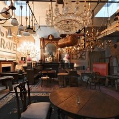A light touch at eclectic South London café...  http://www.we-heart.com/2013/02/25/brunswick-house-cafe/