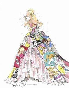 Barbie Fashion Design sketch