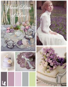 Shabby Chic Pastel Lilac Colors Rustic French Country Decor Idea