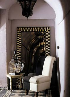 Exotic Design of Riads in old town of Marrakesh Riad, Global Home, Hotel Staff, Moroccan Interiors, Lounge, Marrakesh, Tangier, Moroccan Design, Interior Garden
