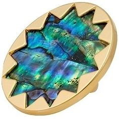 ShopStyle: House of Harlow 1960 - Abalone Gold Sunburst Cocktail Ring