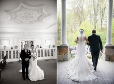 Blithewold Mansion Wedding, Ceremony, Father of the Bride  © Snap Weddings