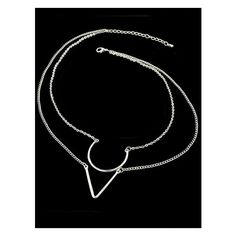 Silver Double Layels Chain Necklace featuring polyvore, women's fashion, jewelry, necklaces, silver chain jewelry, silver jewelry, silver necklace, silver chain necklace and chain necklaces
