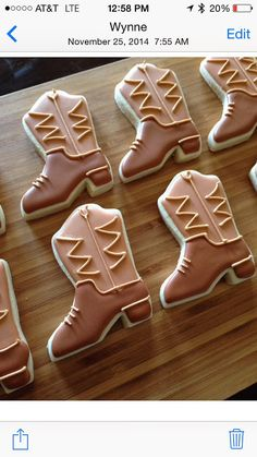 Cowboy boot cookies by Heidissweetshoppe on Etsy