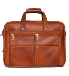 Leather Express Office Laptop Bag Brown