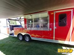 2015 CBTL - x Barbecue Food Concession Trailer with Porch for Sale in New Mexico! Custom Bbq Smokers, Custom Bbq Pits, Food Trailer For Sale, Trailers For Sale, Cargo Vans For Sale, Taco Cart, Bbq Smoker Trailer, Concession Trailer For Sale, Barbecue Pit