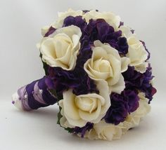 purple hydrangea bouquet wedding - Google Search
