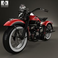 Harley-Davidson 45 WL 1940 3d model from humster3d.com. Price: $75