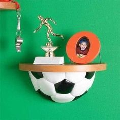 SOCCER Sport Ball Wall Display Shelf Kids Room Deco on eBay!