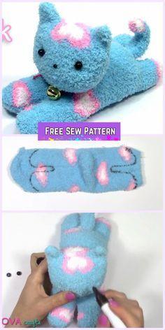 DIY Sock Kitten Free Sewing Pattern + Video Tutorial DIY Sew Sock Kitten Tutorial The post DIY Sock Kitten Free Sewing Pattern + Video Tutorial appeared first on DIY Crafts. Diy Sock Toys, Sock Crafts, Cat Crafts, Diy Toys, Toy Diy, Crafts With Socks, Sewing Toys, Sewing Crafts, Sewing Projects