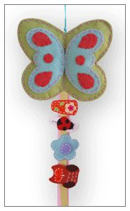sage butterfly hair clip bow holder - baby felt hair clips and hair bows. Gift for the girls.