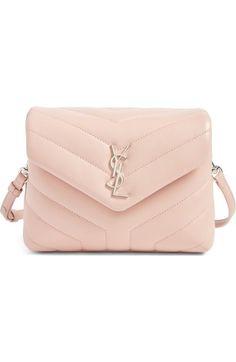 SAINT LAURENT Toy Loulou Calfskin Leather Crossbody Bag. #saintlaurent #bags #shoulder bags #leather #crossbody #