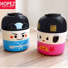 Japanese Lunch Box Cartoon Doll Double Microwavable Plastic Lunch Box