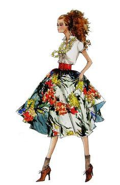 Robert Best sketch for Barbie Love Fashion, Fashion Art, Vintage Fashion, Fashion Design, Barbie Drawing, Illustration Mode, Ferrat, Costume Design, Fashion Dolls