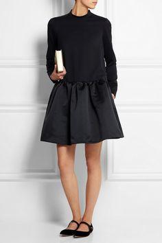 Rochas | Stretch-wool and satin mini dress | NET-A-PORTER.COM