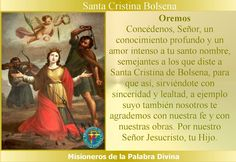 Misioneros de la Palabra Divina: SANTORAL - SANTA CRISTINA BOLSENA