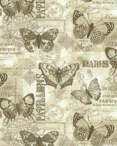 French Quarter - Keepsake Butterflies - Taupe