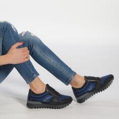Pantofi sport negri de dama cu pietre din materiale pe exterior combinate it240118-53 | Fashionmix.ro Men Dress, Dress Shoes, Cole Haan, Clogs, Oxford Shoes, Women's Sneakers, Lei, Sport, Black