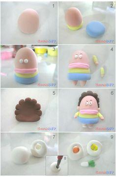 韩国粘土教程, Clay Crafts, Fimo, Sculpey , Modelling , Polymer Crafts with Sculpting clay , Free Kids Activities , Clay Projects, Templates and Ideas , Cute Cartoon Critters
