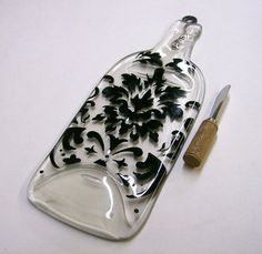 Recycled Wine Bottle Serving Tray/Cheese Board With by CDChilds, $20.00