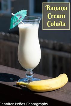 2 oz coconut rum 1 small banana 1/2 oz banana liqueur 1 1/2 oz pineapple juice 1 oz cream of coconut 1/2 C vanilla ice cream 1/2 C ice In a blender, add all of the ingredients above. Blend until your ice is gone and everything is mixed in well.