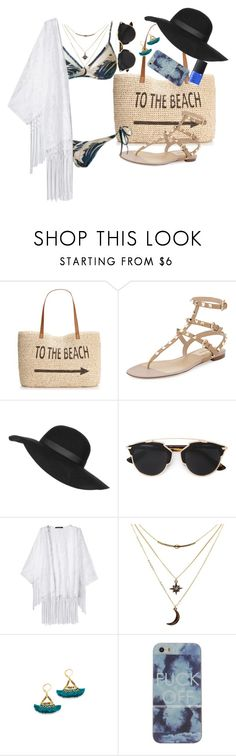 """""""Praiá"""" by irisaparecida on Polyvore featuring beauty, Style & Co., Valentino, Topshop, Christian Dior, Charlotte Russe, Shashi and NARS Cosmetics"""