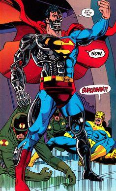 "jthenr-comics-vault:  Superman #78 (June 1993)""Alive!""Art by Dan Jurgens  Brett BreedingWords by Dan Jurgens"