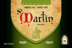 Cerveja St Martin Tripel, estilo Belgian Tripel, produzida por Brasserie de Brunehaut, Bélgica. 9% ABV de álcool.