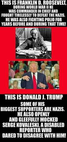 Trump vs. FDR.  Your argument is invalid.