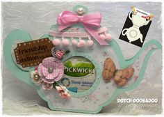 teapot card by Marianne.... using template from Dutch Doobadoo... it holds teabag inside