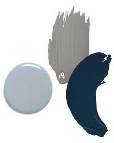darryl carter for benjamin moore -- pincrest gray, bayard blue and dalton blue