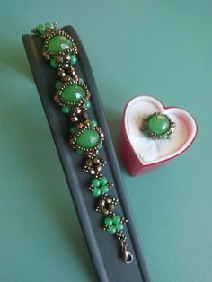 Mother's Day Gift Quality Green Jade Bracelet by SERMINCEJEWELRY