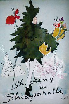 Schiaparelli perfume ad - original from Paris