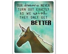 Unicorn with inspirational quote  Canvas Print by WhiteLyme, $18.00