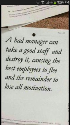 Work Quotes: QUOTATION - Image : Quotes Of the day - Description I've seen this. Sadly Sharing is Caring - Don't forget to share this quote Job Quotes, Quotable Quotes, Funny Quotes, Bad Manager Quotes, Bad Boss Quotes, Positive Quotes, Motivational Quotes, Inspirational Quotes, Thoughts