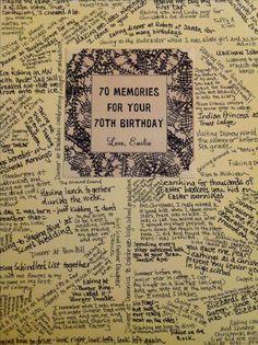 Birthday Card For Dad 70th Presents Grandma
