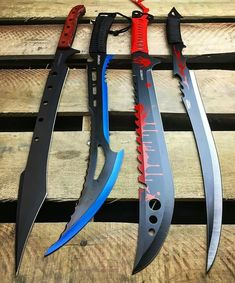 Personally I am not that much into fantasy blades. Their shape often lack the abilities of a dedicated blade, rendering it useless as either a tool or a defense weapon. Ninja Weapons, Weapons Guns, Cool Knives, Knives And Swords, Katana, Armas Ninja, Cool Swords, Survival, By Any Means Necessary
