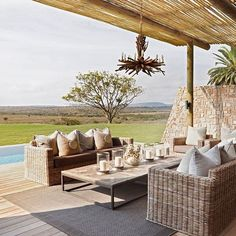 Kwandwe Private Game Reserve in South Africa has just opened its owners' lodge for bookings. Known as the Fort House, the secluded estate fits two families of four comfortably and features a wine cellar, a spa treatment room, and a private vehicle, guides, and chef. Available through the Classic Portfolio. ➡ From Robb Report editorial director @robbtravelbruce. . . . @kwandwe_ #classicportfolio #safari #luxurysafari #southafricasafari #luxurytravel