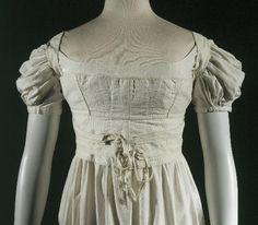 1820, Schnürbrust aus Baumwolle, Frankreich