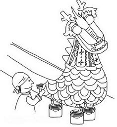 Dragon boating on pinterest braveheart unicorns and kilts for Dragon boat coloring pages