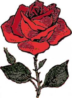 Free Rose Clipart - Public Domain Flower clip art, images and graphics Red Rose Love, Cute Rose, Rose Clipart, Flower Clipart, Flowers Perennials, Small Art, Flower Images, Online Art, Art Images