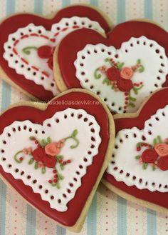 Galletas de San Valentín de Las delicias del buen vivir