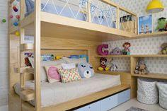 Quarto infantil tem mix de três papéis de parede no décor | CASA CLAUDIA