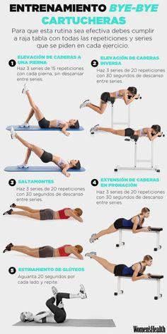 El entrenamiento definitivo para despedirte de las cartucheras | Fitness | Women's Health