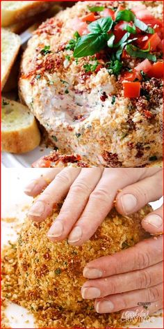 Super easy Bruschetta Cheese Ball takes just minutes to whip up and is always a total show stopper, make ahead appetizer! #appetizer #cheeseball #bruschetta #thanksgivingrecipe #thanksgivingsides #holidaybaking #christmas #thanksgivingfood #thanksgiving #recipes #recipeoftheday #recipeseasy #easyrecipe #appetizers Cheese Ball Recipes, Cooking Recipes, Healthy Recipes, Italian Food Recipes, Budget Recipes, Greek Recipes, Dip Recipes, Quick Recipes, Cooking Tips
