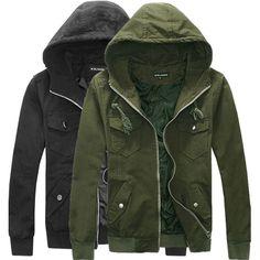 2014 New Brand men's Windbreaker casual sports jacket zipper cardigan men hooded jacket RibSleeve men sportswear ArmyGreen black $34.99
